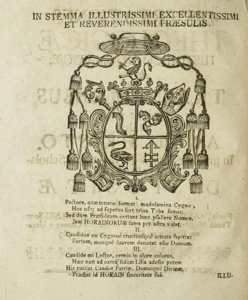 Герб Alexandro Horain з эпіграмай