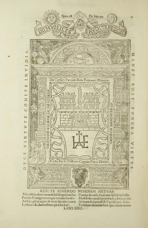 Гравюра з дэвізам (л. [301] об.)