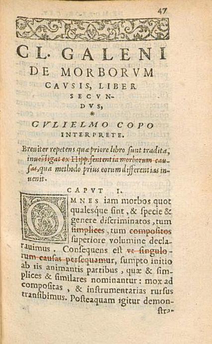 Ліст кнігі з ініцыялам і застаўкай