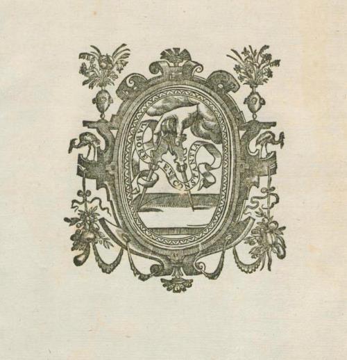 Выдавецкая марка Плантэна з дэвізам: Labore et constantia