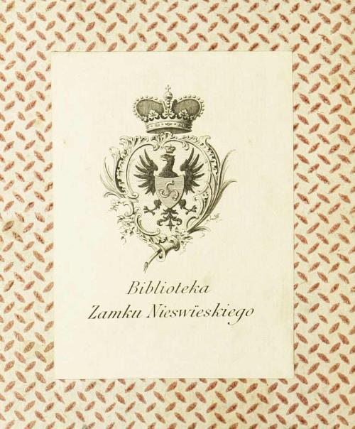 "Экслібрыс ""Biblioteka Ordynacja Nieswieska """