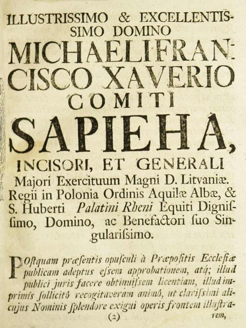 Прысвячэнне Міхаілу Сапеге