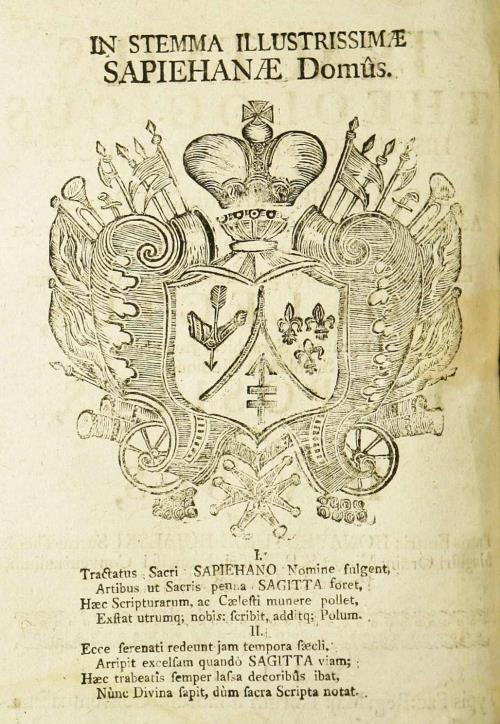Герб Сапегаў з эпіграмай